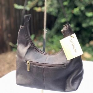 LeDonne Black Leather Purse